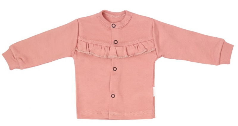 Mamatti Novorozenecká bavlněná košilka, kabátek, New minnie - pudrová, vel. 74