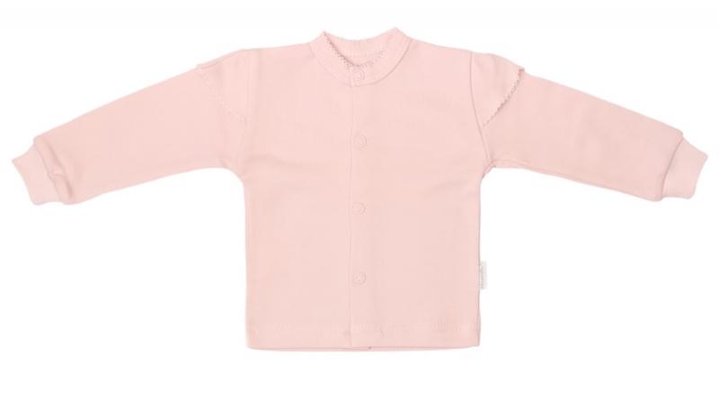 Mamatti Novorozenecká bavlněná košilka, kabátek, Magnólie - pudrová, Velikost: 50 (0-1m)