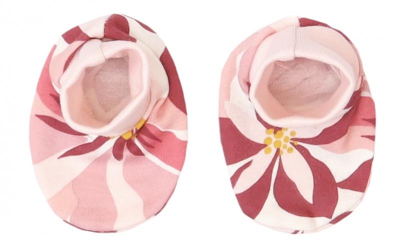 Mamatti Kojenecké botičky, ponožtičky Magnólie, pudrové s potiskem