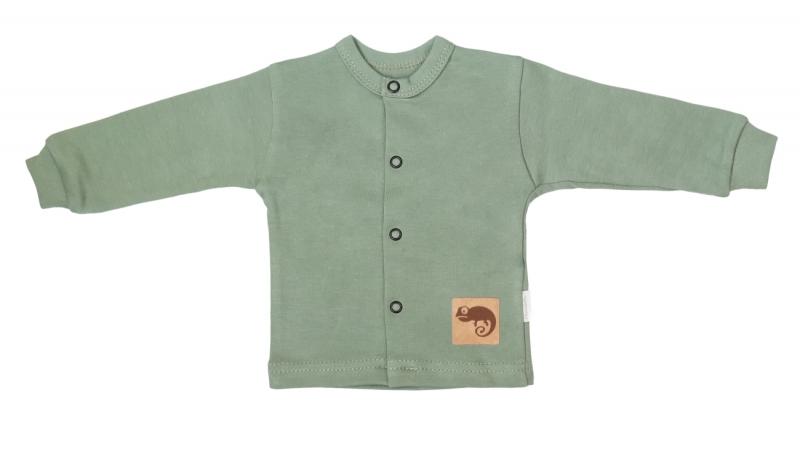 Mamatti Novorozenecká bavlněná košilka, kabátek, Auta - olivová, Velikost: 50 (0-1m)