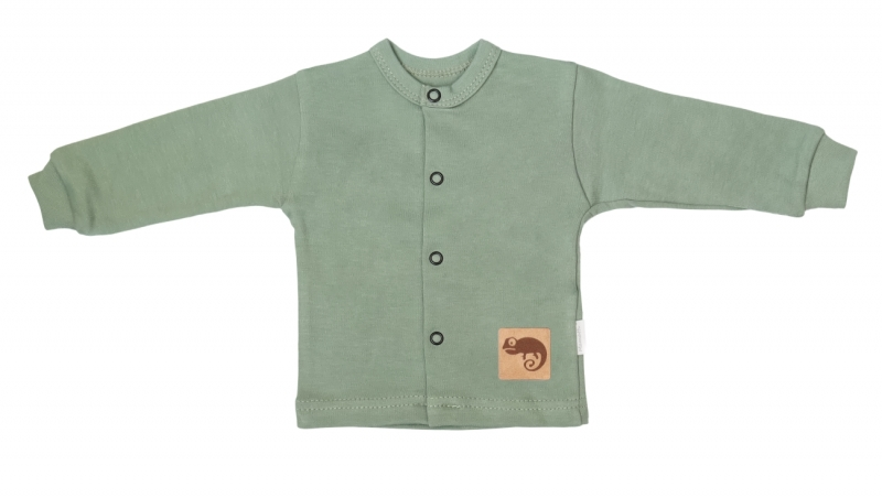 Mamatti Novorozenecká bavlněná košilka, kabátek, Auta - olivová, vel. 62