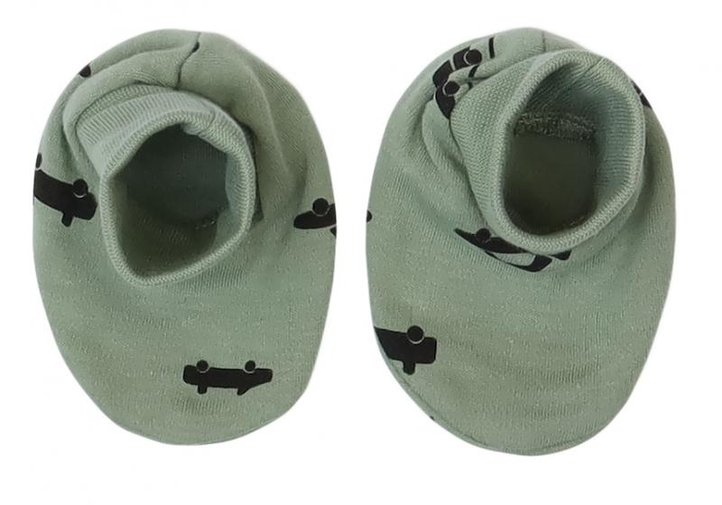 Mamatti Kojenecké botičky, ponožtičky Auta - olivové