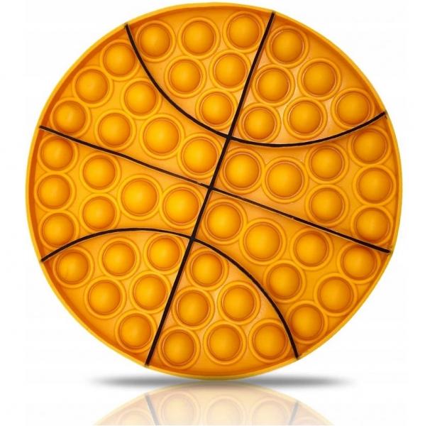 Pop It - Praskající bubliny, silikonová, antistresová spol. hra, Basketbal