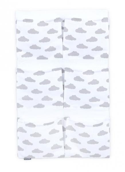 Mamo Tato Kapsář 40 x 65 cm - Mráčky šedé na bílém