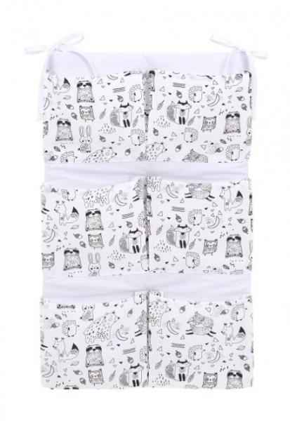 Mamo Tato Kapsář 40 x 65 cm - Lesní zvířátka, bílé