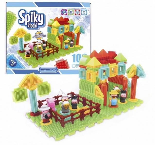 Plastové kostičky Spiky Farma, 100 dílků