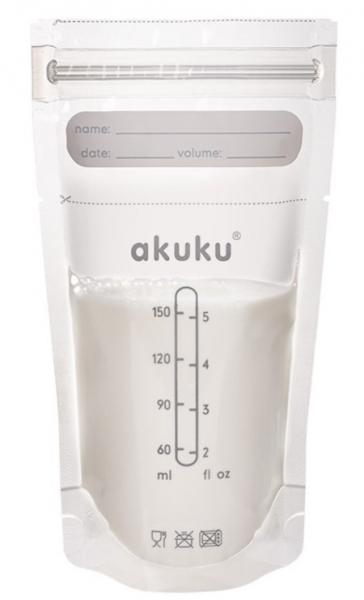 Akuku Jednorázové sterilní sáčky na skladování pokrmů - 150 ml, 30 ks