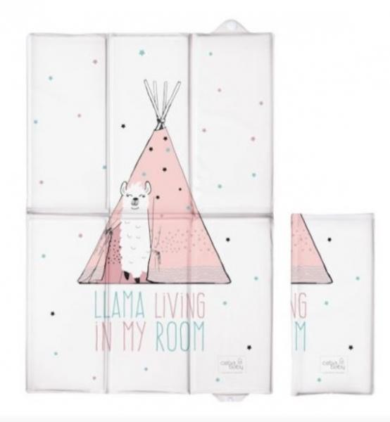 Ceba Baby Cestovní přebalovací podložka Lolly Polly Lama, 60 x 40 cm