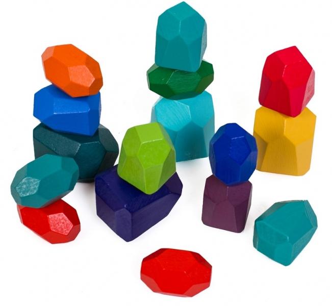 Tulimi Dřevěná barevná věz, Kameny - 16ks