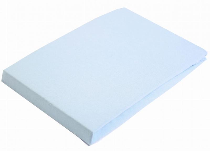 Baby Nellys Jersey prostěradlo do kočárku - modré, 75x35 cm