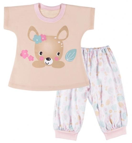 EEVI Dětské pyžamo Family - béžové, vel. 122