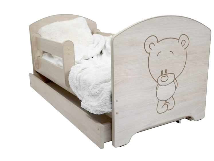 Dětská postel Medvídek - barva Dub Sonoma + matrace zdarma