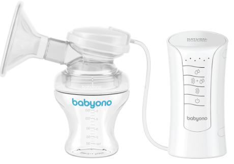 BabyOno Elektrická odsávačka Natural Nursing 3v1 + vložky do podprsenky Zdarma