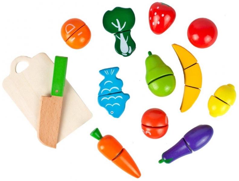 Tulimi Dřevěné ovoce v kyblíku  - 13 kusů