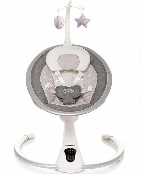 4 BABY Lehátko/houpačka pro kojence Grace  360°-šedá