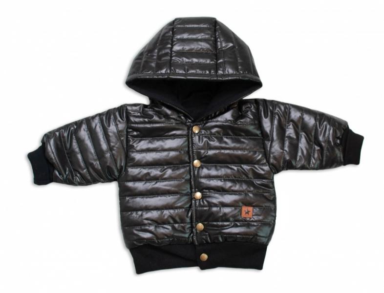 Z&Z Přechodová prošívaná bundička s kapucí - černá, vel. 74, Velikost: 74 (6-9m)