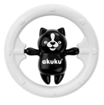 Akuku Chrastítko s Medvídkem - černo/bílé