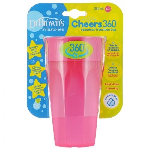 Dr.Browns Kouzelný hrneček Cheers 360°, 300 ml, růžový