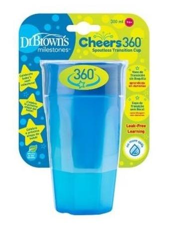 Dr.Browns Kouzelný hrneček Cheers 360°, 300 ml, modrý