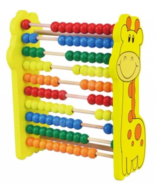 Tulimi Dřevěné počítadlo Žirafka - žlutá
