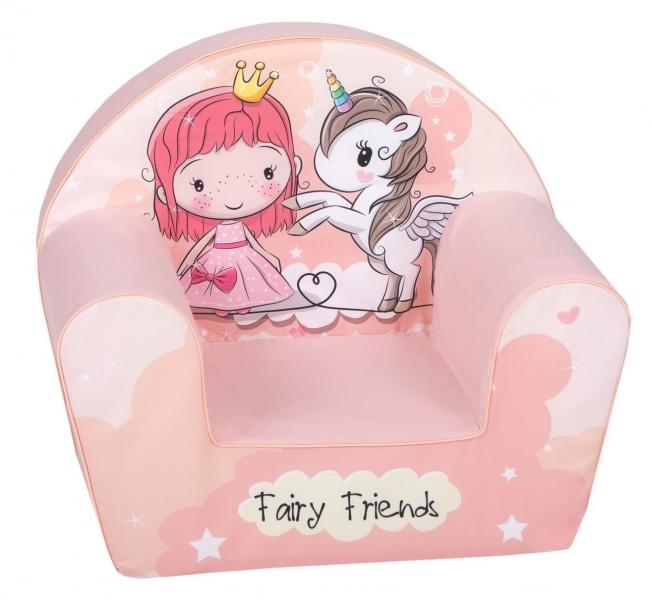 Delsit Dětské křesílko, pohovka - Fairy Friend, růžová