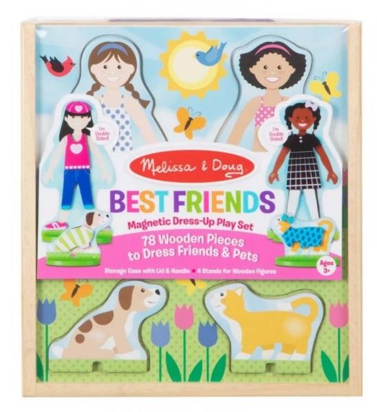 Melissa & Doug Dřevěné magnetické oblékání - Best Friends