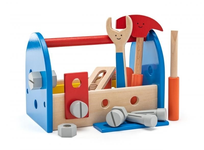 Woody Dřevěná sada nářadí v boxu