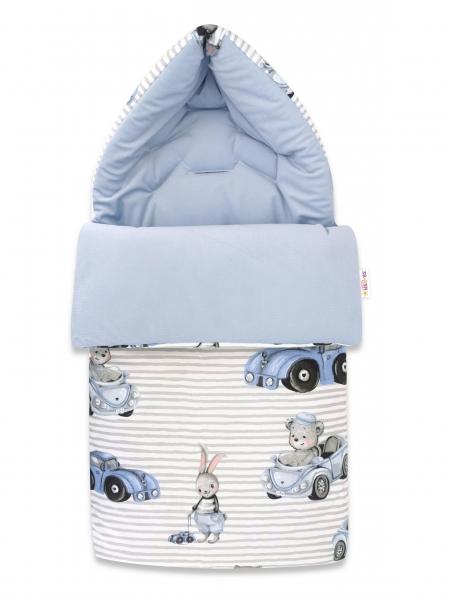 Baby Nellys Bavlněný fusak, Velvet, 47 x 95 cm - Baby Car, modrá-bílá