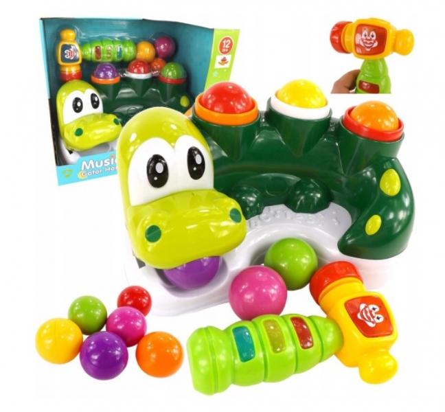 Tulimi interaktivní zatloukačka míčků Krokodýl, zelený