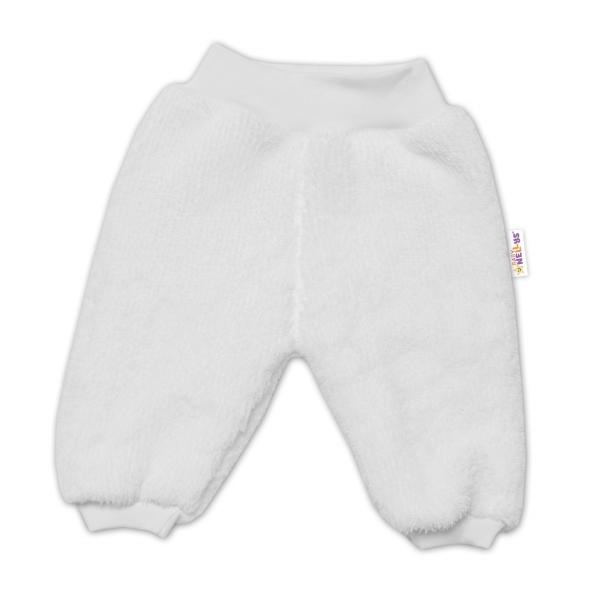 Baby Nellys Kojenecké chlupáčkové tepláčky Cute Bunny - bílá, Velikost: 56 (1-2m)