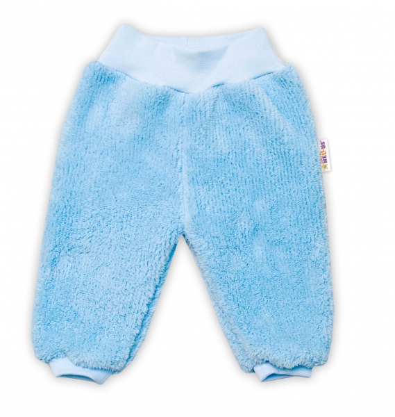Baby Nellys Kojenecké chlupáčkové tepláčky Cute Bunny - modré, vel. 74, Velikost: 74 (6-9m)