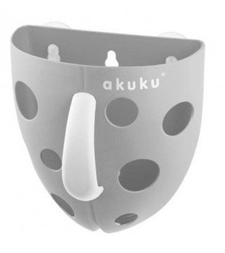 Akuku Box, nádobka na hračky do vody, na vanu, šedý