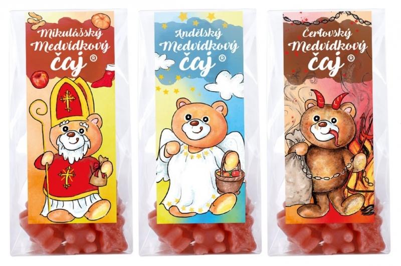 Medvídkový čaj - Mikulášský balíček 3 x 50g