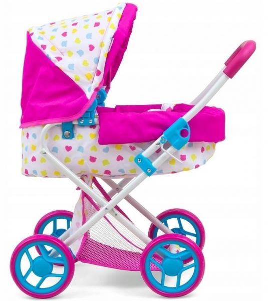 Milly Mally Hluboký kočárek pro panenky - Alice Candy - růžový