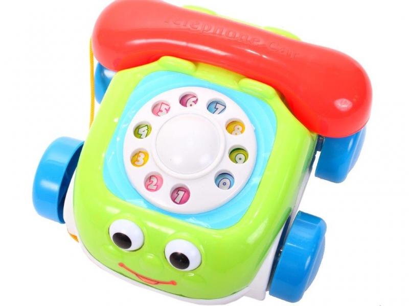 Tulimi Interaktivní telefon na kolečkách  - zelený