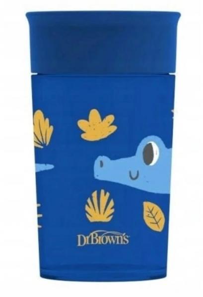 Dr.Browns Kouzelný hrneček Cheers 360°, 300 ml, Krokodýl - modrý