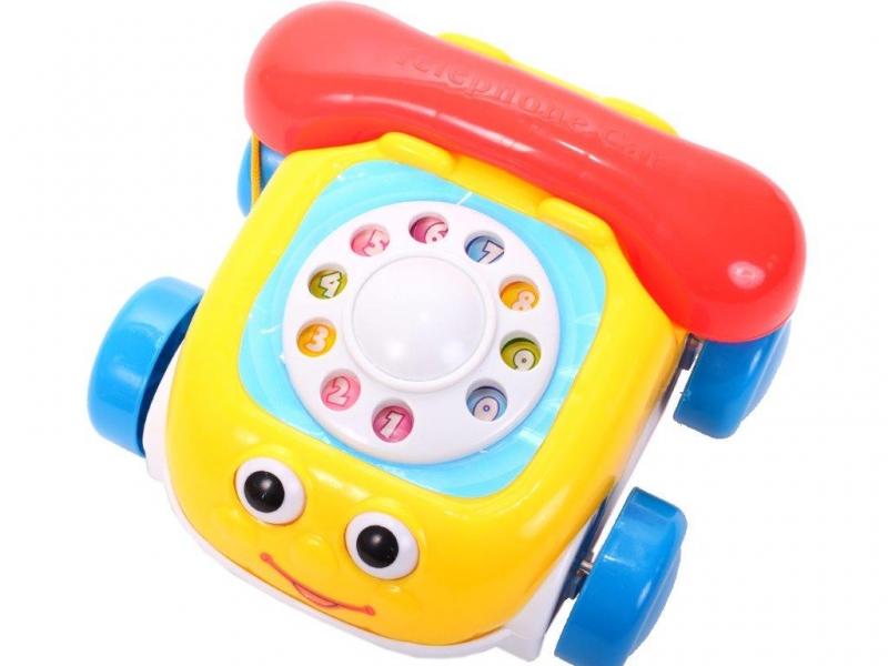 Tulimi Interaktivní telefon na kolečkách  - žlutý