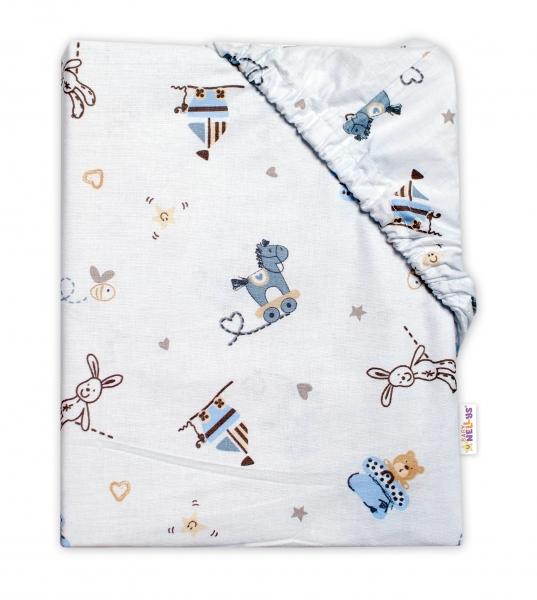 Baby Nellys Dětské bavlněné prostěradlo do postýlky, Hračky, 140x70 cm