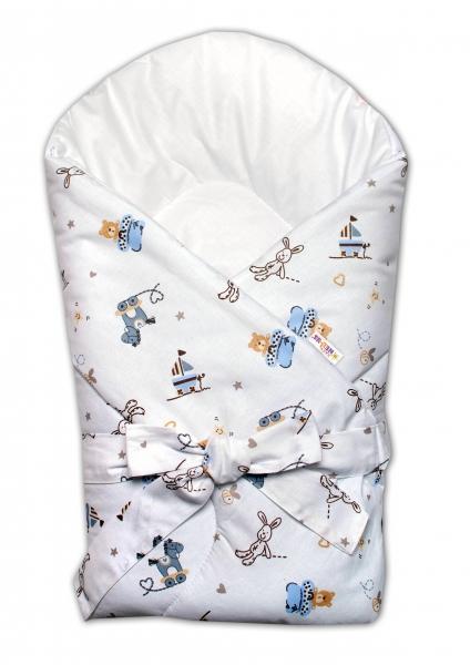 Zavinovačka na zavazování Baby Nellys Hračky - bílá/modrá