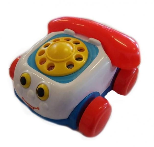 Tulimi Interaktivní telefon na kolečkách  - bílý