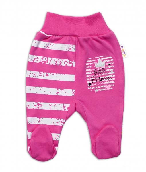Baby Nellys Bavlněné kojenecké polodupačky, Sweet Little Princess, růžové, vel. 74