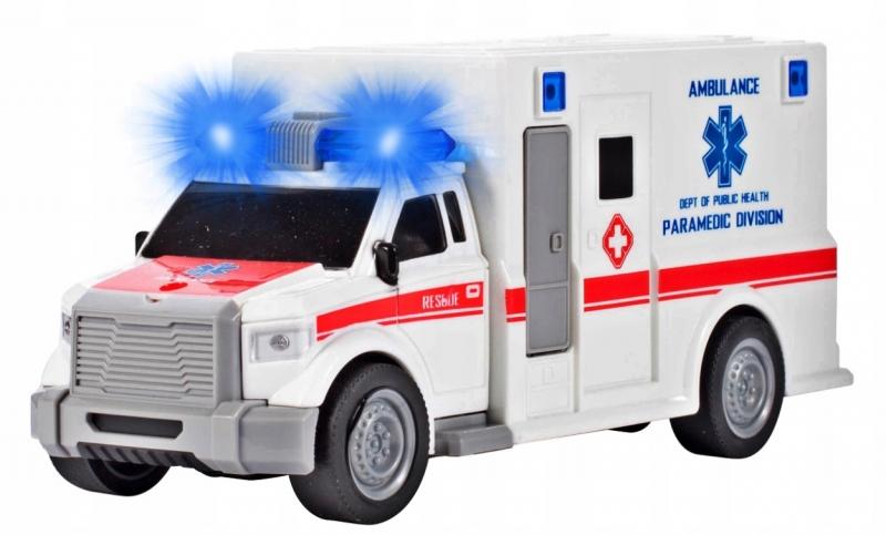 Tulimi Auto lékařská ambulance se zvukem, bílá