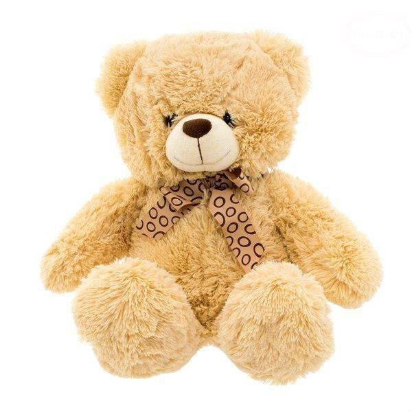 Euro Baby Plyšový sedící medvídek 47cm - béžový