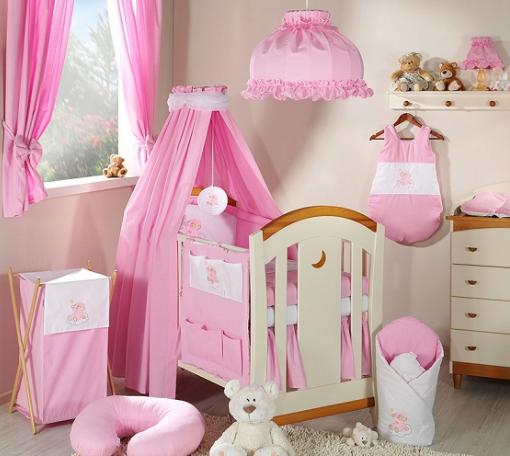 Luxusní mega set s výšivkou CL - Mráček růžový