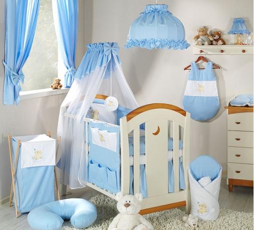 Mamo Tato Luxusní mega set s výšivkou Š - Mráček modrý