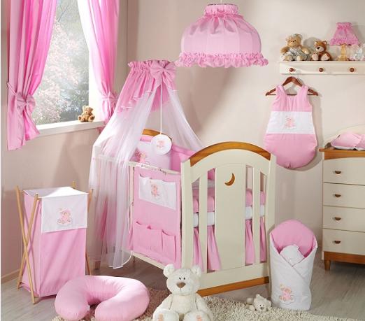 Luxusní mega set s výšivkou Š - Mráček růžový