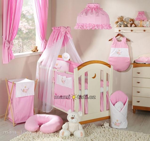 Luxusní mega set s výšivkou Š - Houpačka růžová