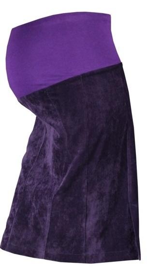 Těhotenská sukně MALO - fialová, Velikost: M
