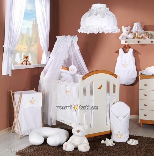 Luxusní mega set s výšivkou Š - Houpačka bílá