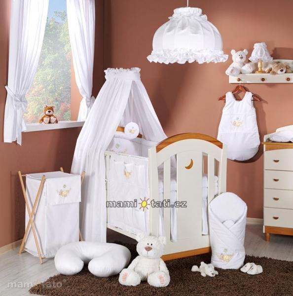 Luxusní mega set s výšivkou CL - Houpačka bílá